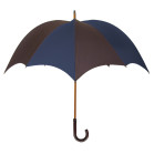 Grande Men's Pumpkin umbrella Navy & Dark Brown