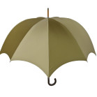 Grande Men's Pumpkin umbrella Olive & Greyge