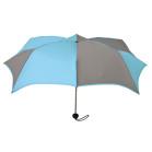 Turquoise & Grey Pumpkin Umbrella SuperMini