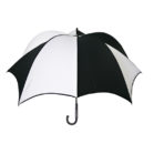 DiCesare Pumpkinbrella Black & White Umbrella - Wood Handle