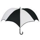 DiCesare Pumpkinbrella Black & White Umbrella - Leather Handle
