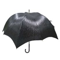 Black Crocodile Pumpkinbrella by DiCesare - Wood Handle
