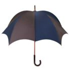 DiCesare GRANDE 2tone Men's Pumpkin Umbrella Navy & Dark Brown