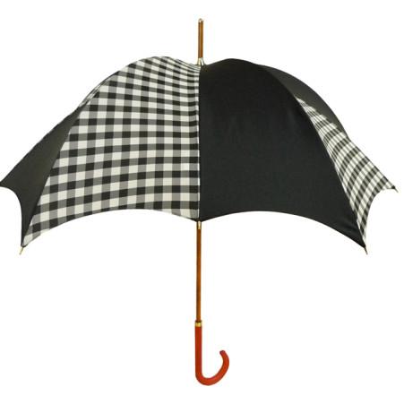 Gingham Black Rhythm Pumpkin Umbrella