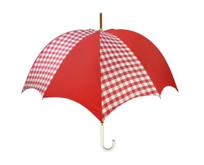 Gingham Red Rhythm Pumpkin Umbrella