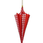 Gingham Red Rhythm Pumpkin Umbrella
