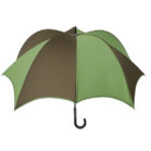 DiCesare Pumpkinbrella Umbrella Green & Brown - Leather Handle