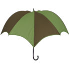 DiCesare Pumpkinbrella Umbrella Green & Brown - Wood Handle