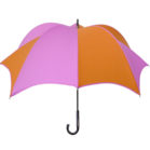 DiCesare Pumpkinbrella Pink & Orange Umbrella - Wood Handle