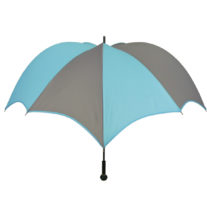DiCesare Pumpkinbrella Turquoise & Grey Umbrella