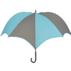 DiCesare Pumpkinbrella Turquoise & Grey Umbrella - Wood Handle